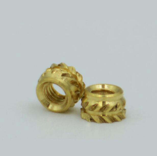 40 Pcs uxcell Knurled Insert Nuts M6 x 6mm L x 8mm OD Female Thread Brass Embedment Assortment Kit