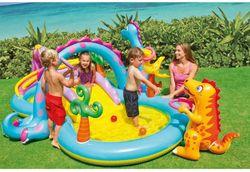 Piscine gonflable INTEX pataugeoire enfant paradis des animaux piscines de natation en plastique toboggan fontaine de piscine