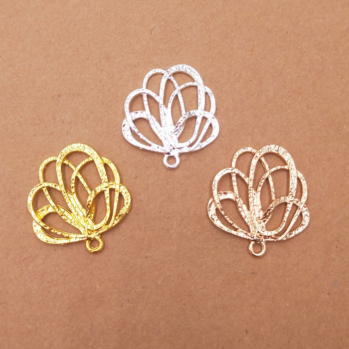 MINGXUAN 20pcs 24X26mm Gold Plated New Flowers Filigree Connectors Charms Material DIY Jewelry Findings