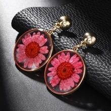 Trendy Drop Earrings Original Design Flower Colorful Metal Korean Japanese Womens For Wedding Banquet Accessories