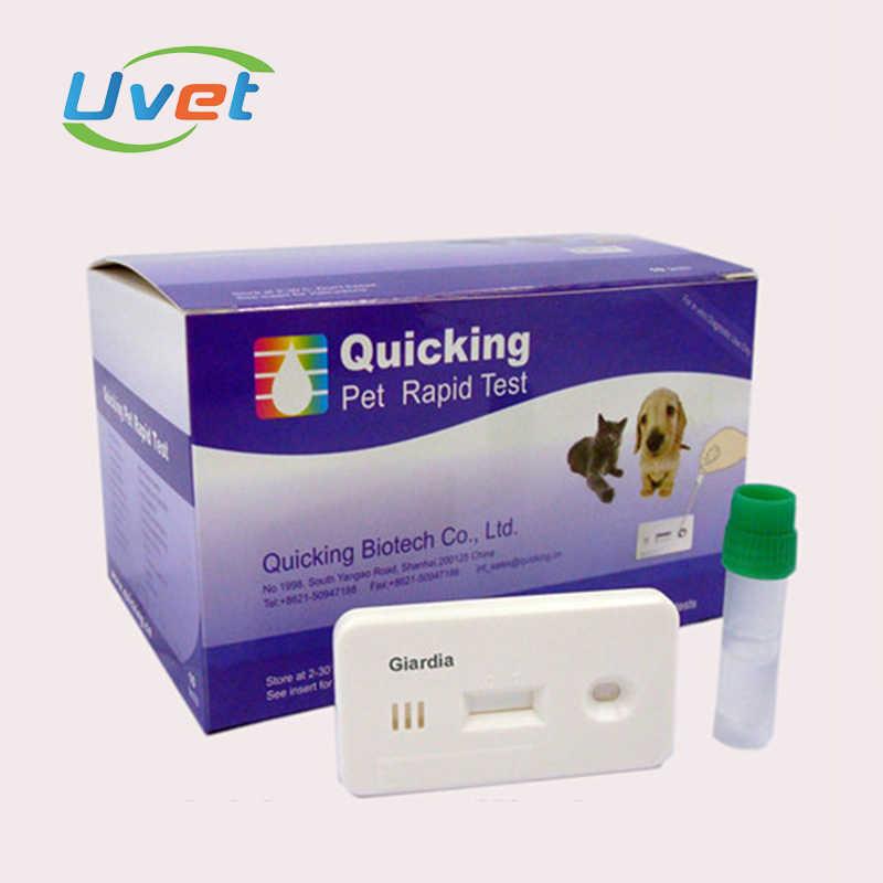 Uvet וטרינרית CPV + CCV + טפילים Ag לשלושה בדיקה מהירה כלבים Parvovirus + כלבים קורונה + טפילים אנטיגן לשלושה בדיקה מהירה