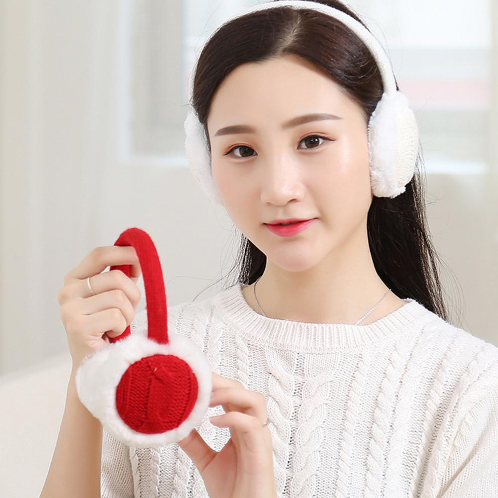 SANWOOD Fashion Women Autumn Winter Warm Plush Knitted Earmuff Ear Warmer Accessory Gift Earmuffs Headband Girls Headphones