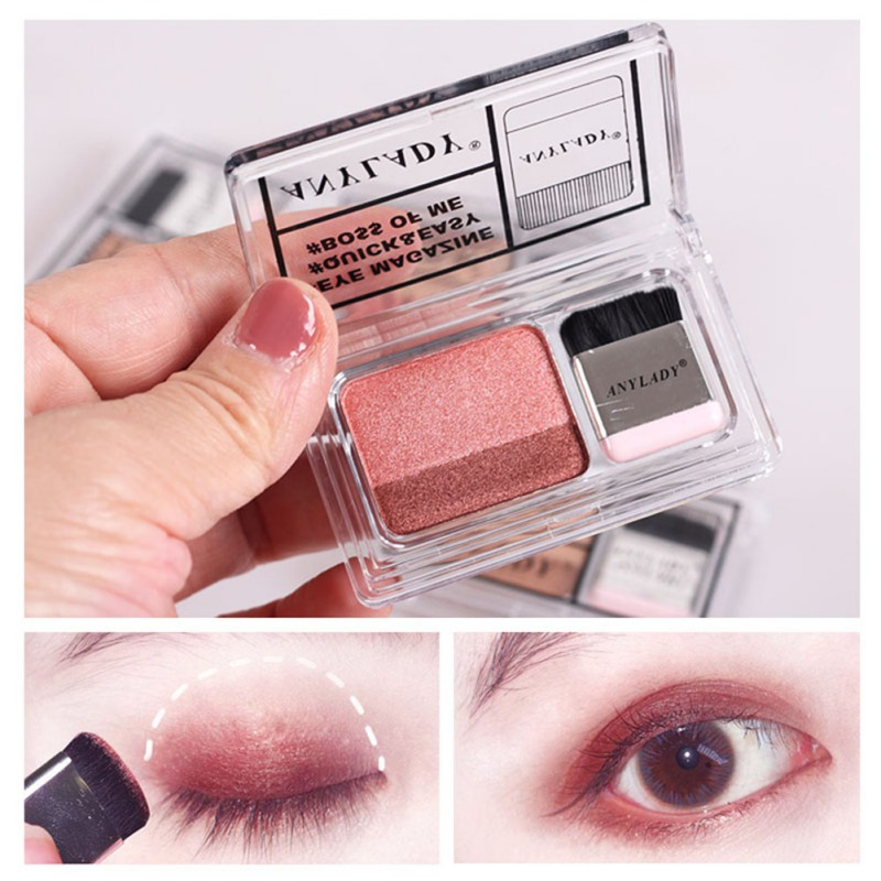 Double Color Lazy Eye Shadow Makeup Palette Glitter Eyeshadow Palette Waterproof Glitter Eyeshadow Shimmer Cosmetics New