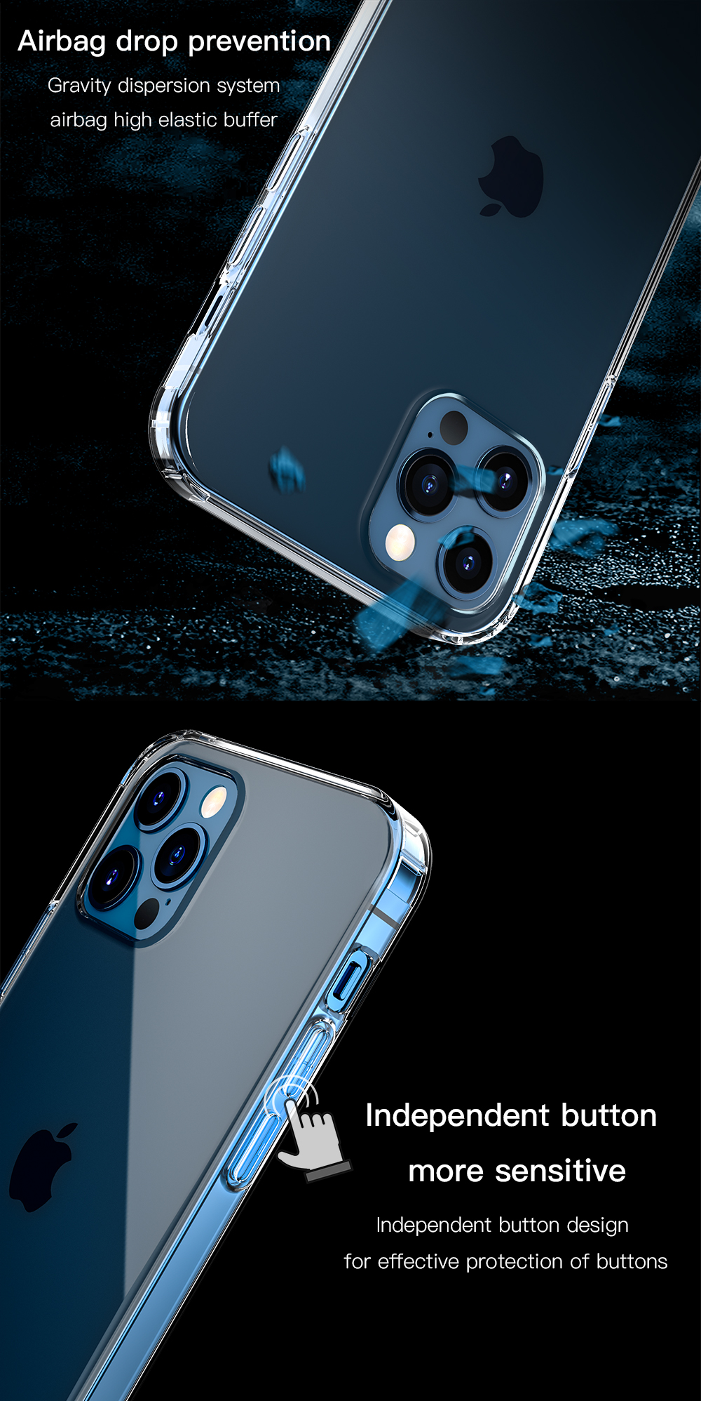 Ultra thin Clear Back Cover Transparent Phone Case For iPhone 12