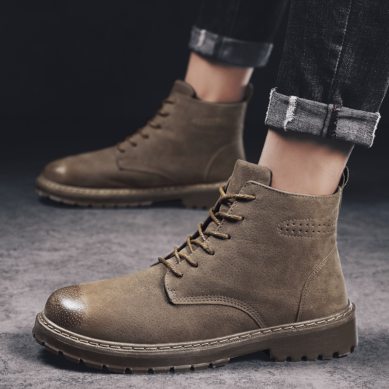 Fashion Men Martin Boots Mens Shoes Casual Botas Masculinas Men High Top Sneakers Male Warm Non-slip Boots Outdoor Ankle Boots