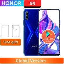 الأصلي الجديد Honor 9X هاتف محمول كيرين 810 أندرويد 9.0 6.5 بوصة IPS 2340X1080 4/6GB RAM 64GB ROM رفع الكاميرا 48.0MP + 2.0MP