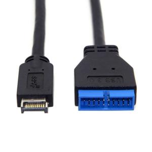 Прочный разъем передней панели типа Е до 20 штыревой адаптер Черный конвертировать длинные аксессуары 20 см USB 3,1 Для материнской платы ASUS