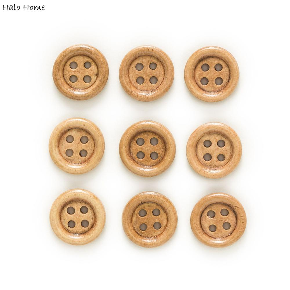 30/50pcs 4 Hole Wood Buttons for Sewing Scrapbook Clothing Crafts Gift Jacket Blazer Sweaters Handwork Accessories 10-25mm