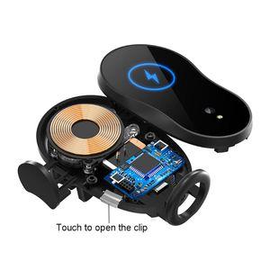 Image 4 - Uniwersalny 15W kubek samochodowy szybka ładowarka bezprzewodowa Qi stojak na podczerwień inteligentny czujnik automatyczne mocowanie uchwyt do montażu na iphone mobilna Ph
