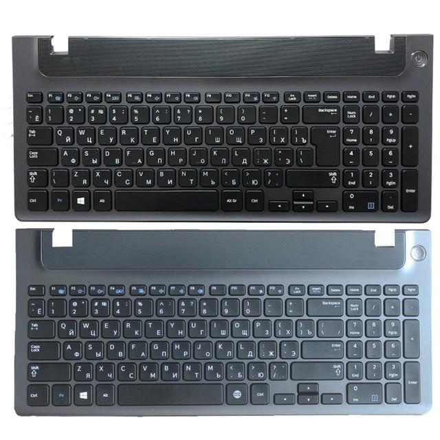 لوحة مفاتيح الكمبيوتر المحمول الروسية مع الإطار لسامسونج NP 355E5C NP355V5C NP300E5E NP350E5C NP350V5C BA59 03270C RU