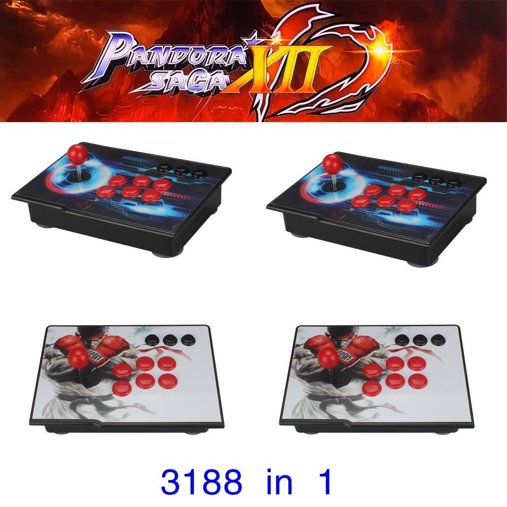 Pandora Saga Box 12 Arcade Console 3188 In 1 Zero Delay 2 Players Joystick Controller PCB 3D Games Retro Video Game Machine