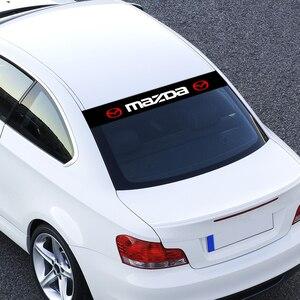 Image 5 - Auto Styling Frontscheibe Sonnenschirm Abziehbilder Hintere Banner Reflektierende Aufkleber Für Mazda 5 6 323 626 RX8 MX3 MX5 CX 5 atenza Axela