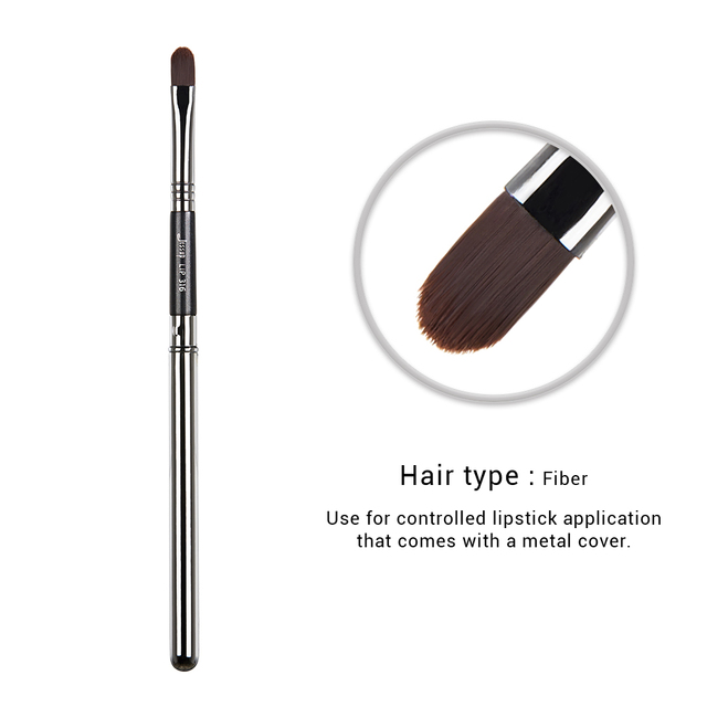 Jessup 1pc Professional Make up Brush Fibre Hair Concealer Eyeliner Blending EyeShader Lip Black- Silver Beauty Cosmetic Tool 3