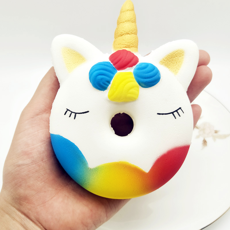 Kawaii Unicorn Donut Squishy Cake Bread Squishies Cream Scented Slow Rising Squeeze Toys For Children Kids Xmas Birthday Gift