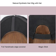 New Sale Baseball Hat with Short Hair Wigs Bob Hair Synthetic Hat for Women Summer(China)