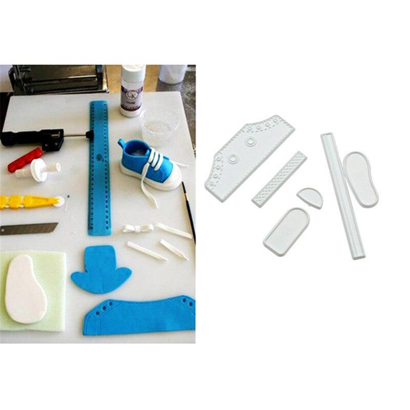 Cool Shoe Shape Decorating DIY Tool Fondant Cake Baby Sneaker Mold LC