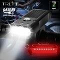 3000LM L2/T6 велосипедный светильник Водонепроницаемый USB Перезаряжаемые Встроенный 5200 мА · ч, светильник велосипедный фонарь, руль для велосипе...