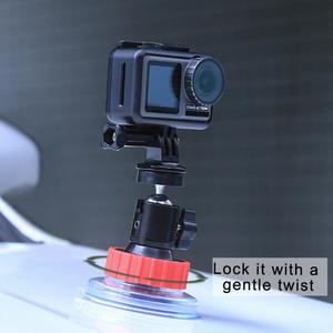 Image 3 - Ulanzi U 50 Action Camera Suction Holder Mount for Dji Osmo Action Gopro Eken Sucker Holder Car Holder Mount Glass Suction Cup