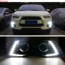 1set For Mitsubishi ASX 2013 2014 LED DRL Daytime Running Light Daylight 12v warning lamp car-Styling lights цена 2017