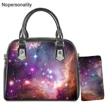 Nopersonality фантазии Galaxy Star печати сумка для женщин леди Новинка звездное небо печати сумки через плечо, сумка через плечо, маленькая сумка-тоут