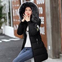 Зимняя женская куртка, модное меховое стеганое зимнее пальто с капюшоном, женское теплое пуховое хлопковое пальто, женские куртки размера плюс YG228
