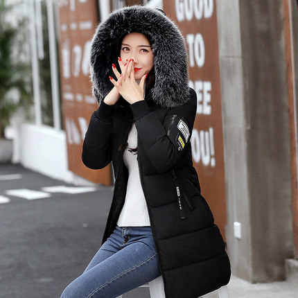 Winter Jacket Women 2019  Fashion  Fur Hooded Quilted winter coat women Warm Down Cotton Parka female jackets Plus Size YG228