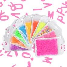 Esmalte fluorescente para uñas, purpurina para decoración de manicura con forma de letra de colores del Arcoíris, polvo en rodajas, accesorios de diseño de manicura DIY