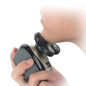 Image 5 - Электробритва мужская с 5 головками, Водонепроницаемый Многофункциональный бритвенный станок 4D с USB зарядкой