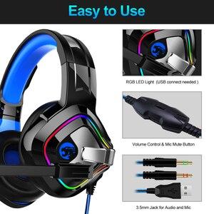 Image 5 - Ott run PS4 سماعات الألعاب 4D ستيريو RGB سرادق سماعات سماعة مع ميكروفون ل Xbox One جديد/كمبيوتر محمول/الكمبيوتر اللوحي ألعاب