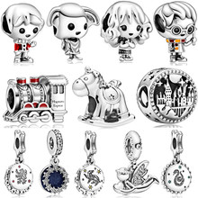 New Silver Color New Original Harry Dobby Train Charms Beads Pendant Fit Pandora Bracelets Necklace For Women DIY Lovers Jeweley