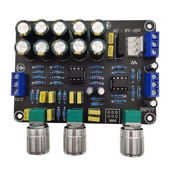 Dual NE5532 Replaceable Tone Preamp Board o Treble Bass Adjustment Equalizer Preamplifier Tone Control Preamplifier audio amprifier equalizer diy hifi ne5532 preamplifier board tone treble bass preamplifiers preamp tone control pre amplifier