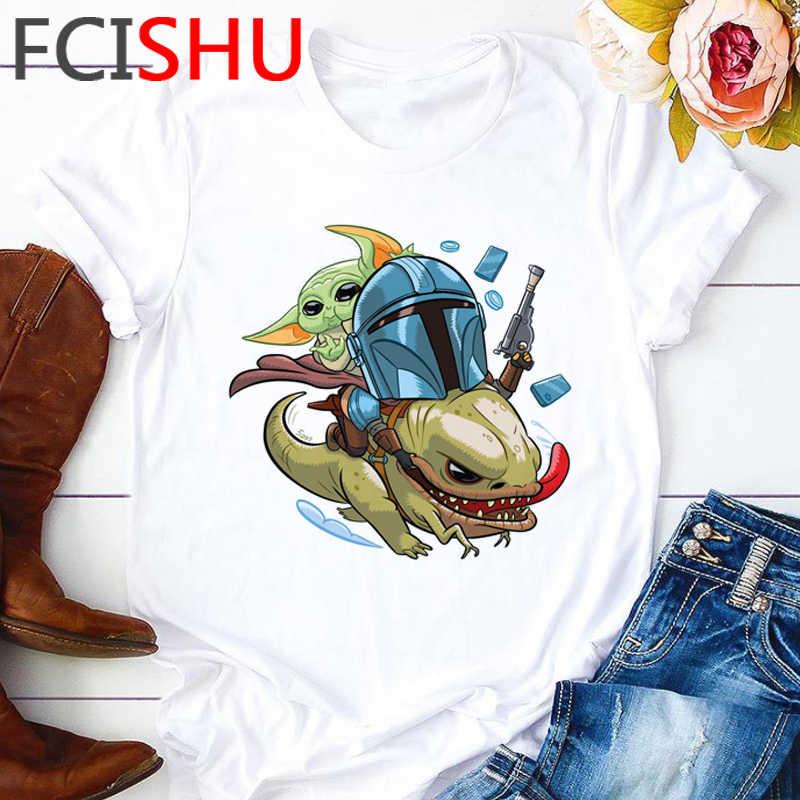 Il Mandalorian Freddo Graphic T Degli Uomini Della Camicia Unisex Cute Baby Yoda T-Shirt Divertente Del Fumetto Bebe Yoda T-Shirt Streetwear Top Magliette maschio