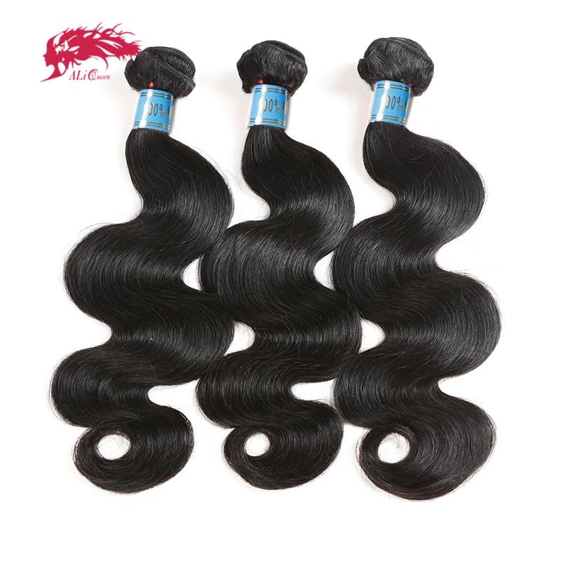 Ali Queen Hair Peruvian Virgin Human Hair Body Wave Weaves Bundles 8