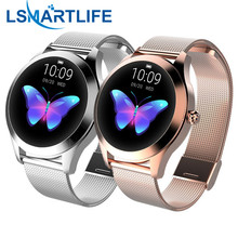 IP68กันน้ำสมาร์ทนาฬิกาผู้หญิงน่ารักสร้อยข้อมือHeart Rate Monitor Sleep Smartwatchเชื่อมต่อIOS Android KW10 Band