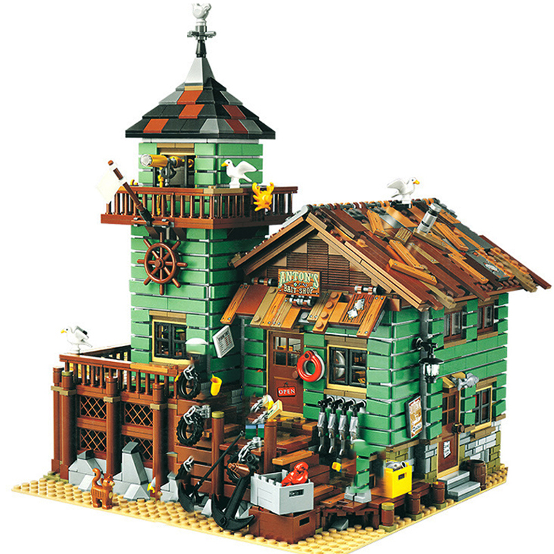 16050 Old Fishing Store MOC Series Compatible With 21310  Set Building Blocks Bricks Educational Kids Birthday