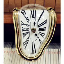 Novel Surreal Melting Distorted Corner Wall Clock Surrealist Salvador Dali Style Decor Table Twisted Dec