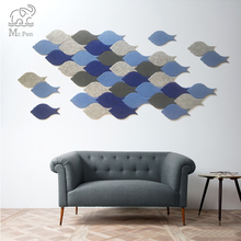 Note-Board Felt-Letter Wall Photo-Display Office Home-Decor Cute Planner Decal-Art Fish-Shape