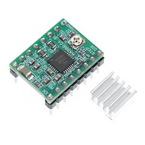 Image 3 - 100 sztuk A4988 moduł CNC 3D drukarki części akcesoria Reprap pololu moduł sterownika silnika krokowego z radiatorem dla ramps 1.4