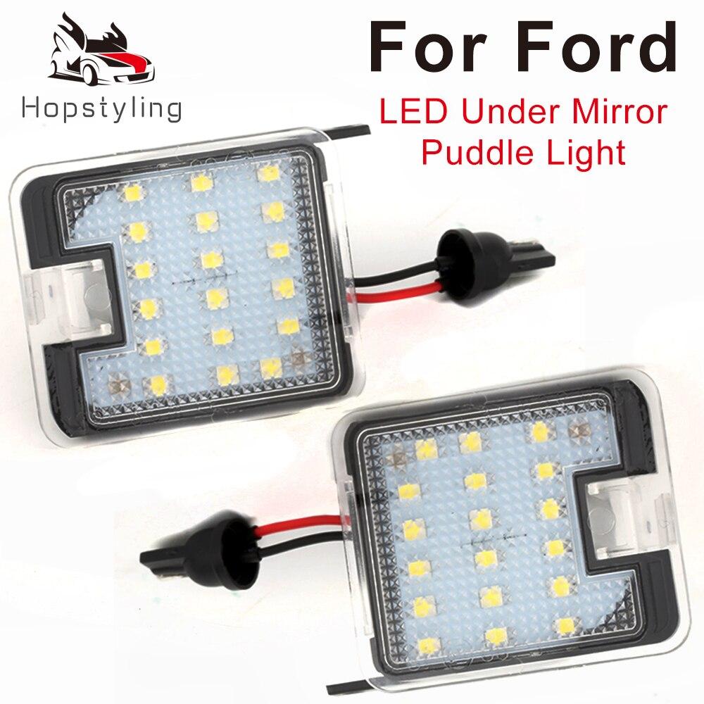 Espelho lateral para ford s-max kuga focus, 2 peças, para escapar de mondeo galaxy wa6, puddle luz sob espelho luz do carro-estilo