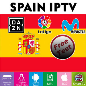 Premium Spain IPTV With M3U IPTV ESPA A Local HD/FHD/4K/UHD/HEVC DAZN Movistar LaLiga INFINTIL DEPORTES +18 no APP included