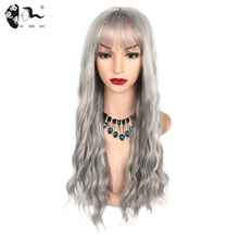 Long Wavy Cosplay Wigs for Women Middle Part Synthetic