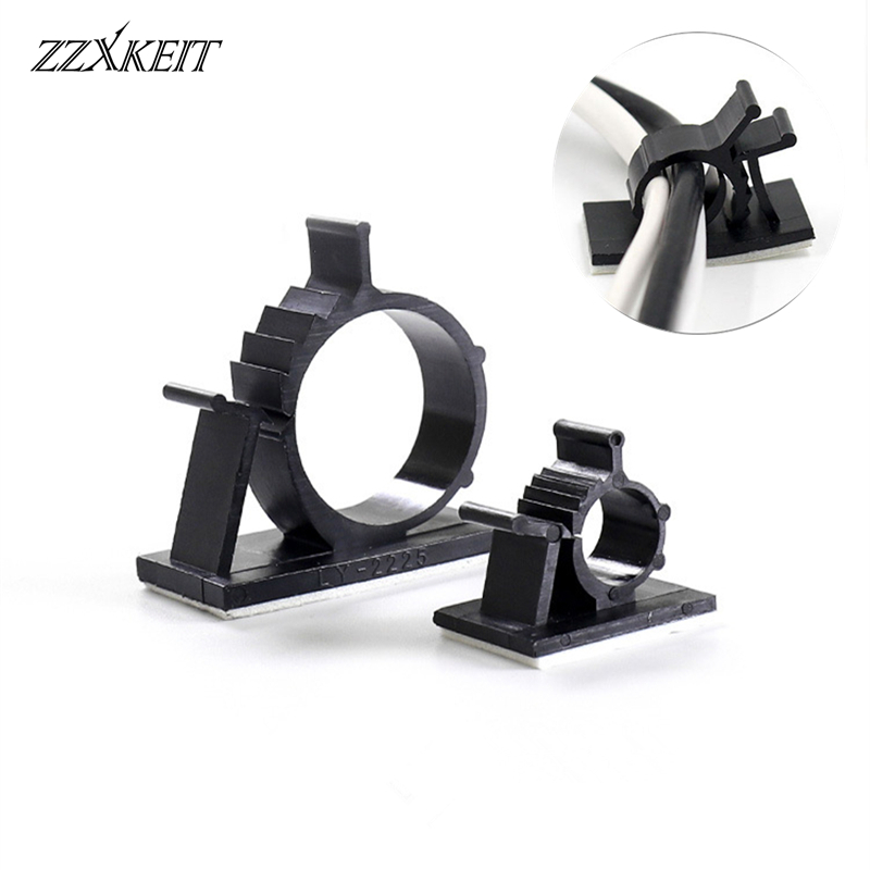 10pcs Adjustable <font><b>Cable</b></font> Fixed Seat Self-<font><b>adhesive</b></font> <font><b>Cable</b></font> <font><b>Clips</b></font> Cord <font><b>Organizer</b></font> Holder Line Fixed Clamps For <font><b>Car</b></font> PC Mouse TV image