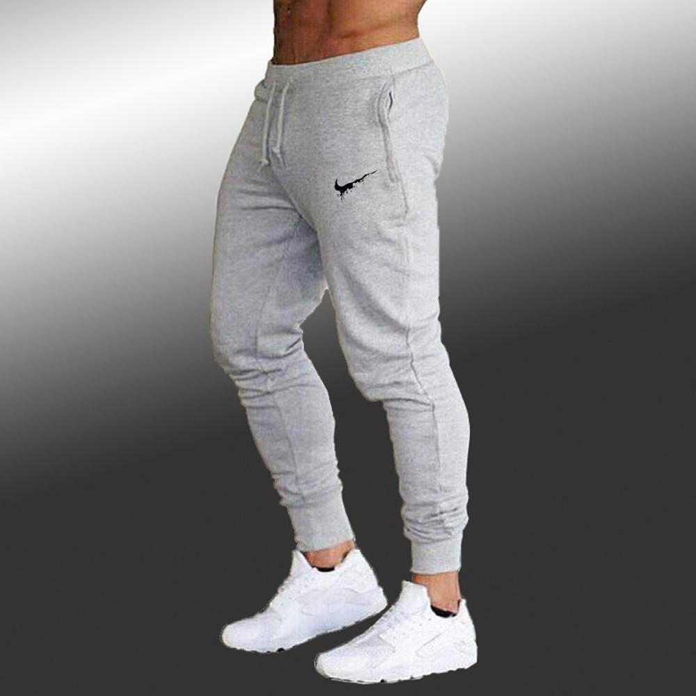Jogging Pants Men Slim Fit Soccer Sweatpants Cotton Workout Running Tights 2019 Summer Joggers Men's Gym Training Sport Trousers