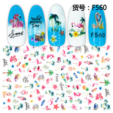 3D Nail Sticker Decals Flamingo Fruit Design Nail Art Decorations Stickers Sliders Manicure Accessories Nails Decoraciones(China)