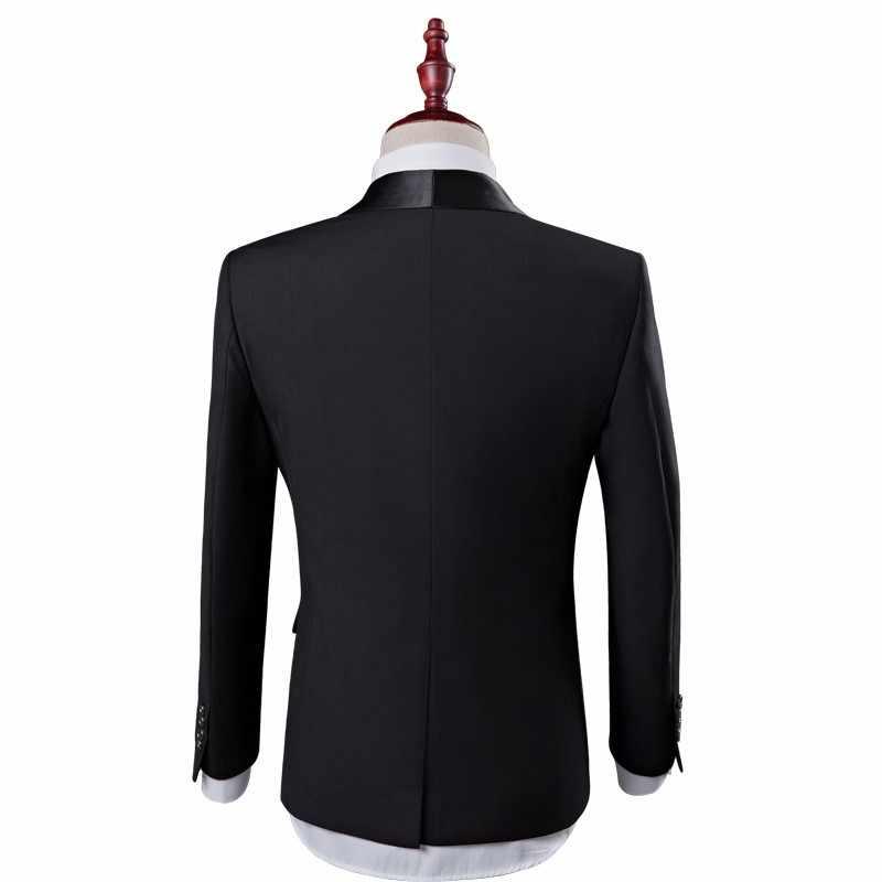 New Mens Wedding Suits Groom Slim Fit Male Formal Black Luxury Man Suit Latest Coat Pant Designs Costume Homme Mariage