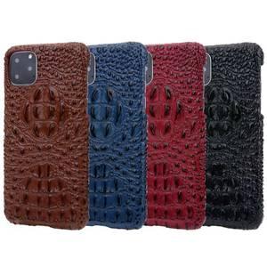 Image 5 - Véritable Étui En Cuir Pour iPhone 12 11 Pro XS MAX 12 Mini 12 MINI 12Pro 11Pro X XR SE 2020 6 S 6 S 7 8 Plus Étui 3D Croc couvre chef