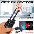 G318a dupla antena anti-spy gps sem fio sinal detector automático localizador racker freqüência varredura varredor proteger a segurança