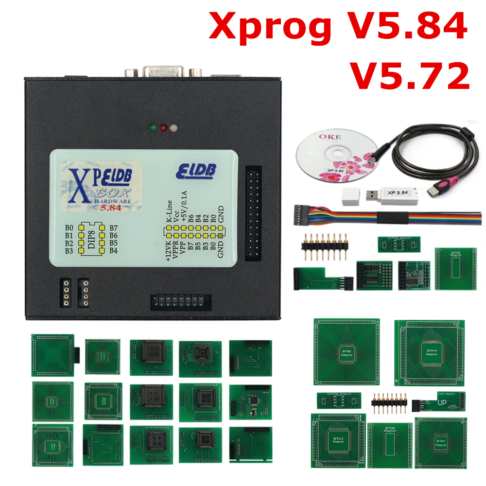 Cheapest 2019 New Version <font><b>Xprog</b></font> V5.84 V5.72 <font><b>M</b></font> Box USB Dongle With Full Set <font><b>XPROG</b></font> ECU Chip Tuning Programming Metal Interface image