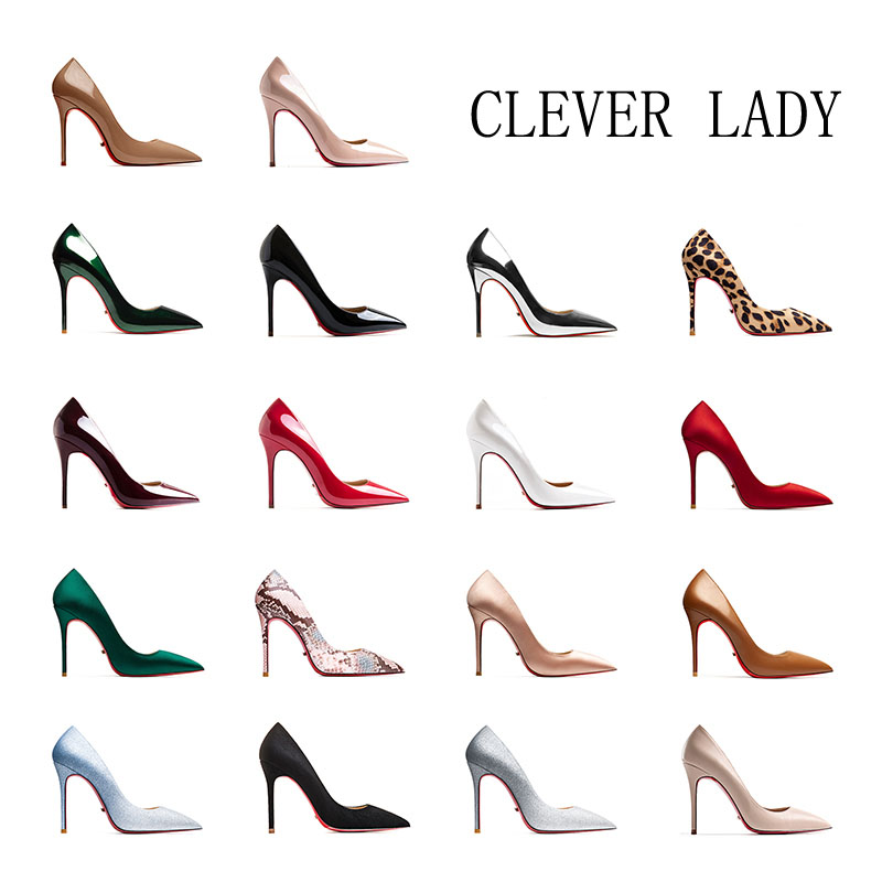 Red Bottom High Heels Shoes Women Sexy Stilettos Pumps Wedding Shoes Pointed Toe Italian Shoe and Bag Set for Party In Women