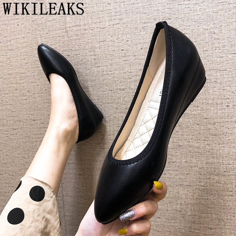Wedges Shoes For Women Pointed Heels Black Heels Elegant Shoes For Woman Ladies Office Shoes Pink Heels Fashion Scarpe Donna